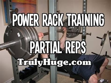 partial bench press power rack training partial reps youtube