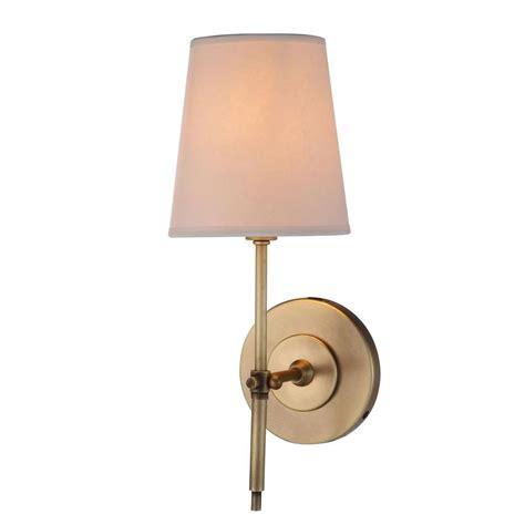 Baldwin Brass Outdoor Lighting Lighting Baldwin 1 Light Burnish Brass Sconce 1412w6bb The Home Depot