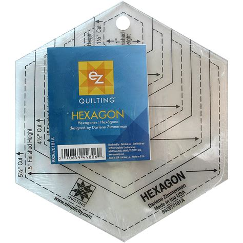 Hexagon Shapes For Quilting by Ez Quilting Hexagon Shapes Ruler Gillybee Designs