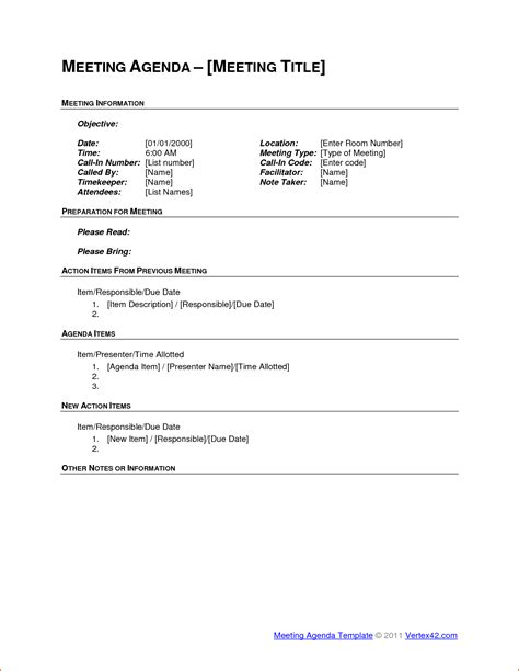 6 Meeting Agenda Outline Bookletemplate Org Meeting Agenda Outline Template
