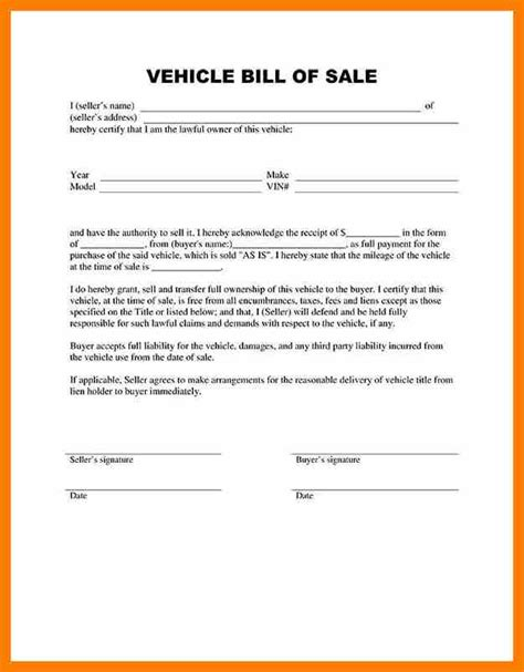 Sle Letter Of Agreement For Car Sale 11 Vehicle Sale Letter Sle Hostess Resume