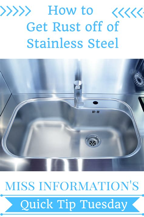 how to remove rust from how to remove rust stains from stainless steel remove