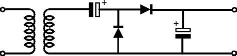 capacitor diode doubler rectifier capacitor in an voltage doubler electrical engineering stack exchange