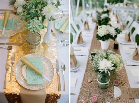 Kitchen Bridal Shower Ideas sequin wedding table runners 004 southbound bride