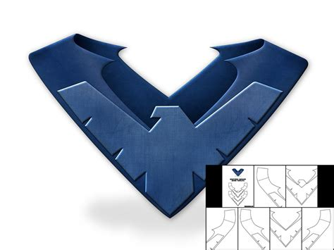 nightwing mask template template for nightwing shoulder armor the foam cave
