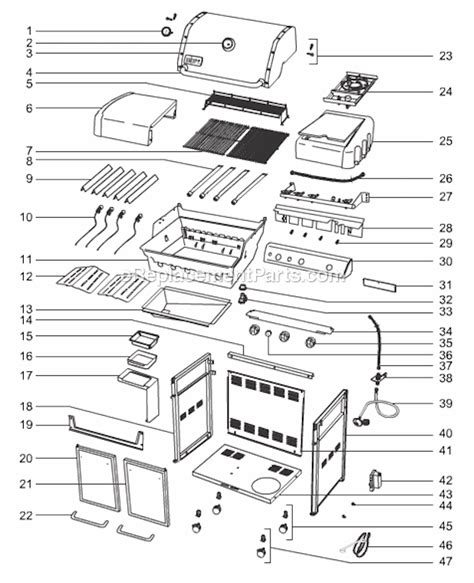 weber genesis parts diagram weber 6570001 parts list and diagram ereplacementparts