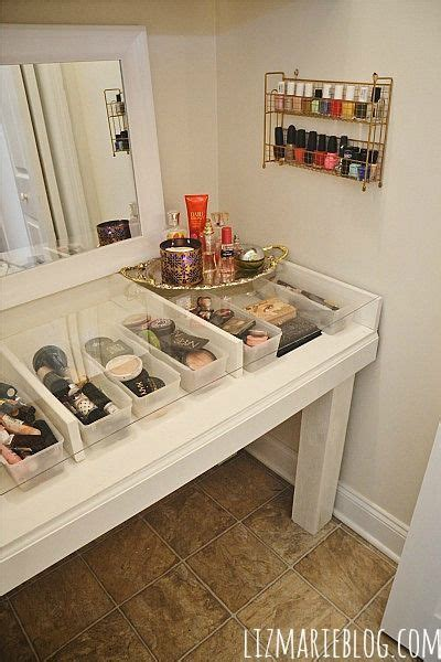 how to build a vanity desk diy glass top makeup vanity