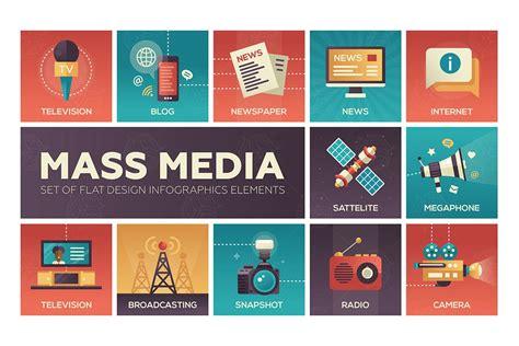 design elements mass mass media line design icons set by decorwm on envato elements