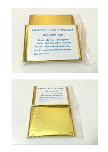 Emergency Blanket Gold Selimut Pencegah Hepotermia emergency mylar survival blankets reflective thermal blanket silver gold pack of 5 bug out