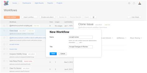 build workflow create a workflow help youtrack standalone