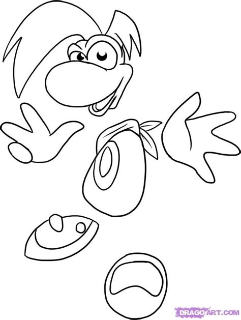 rayman coloring pages coloring home