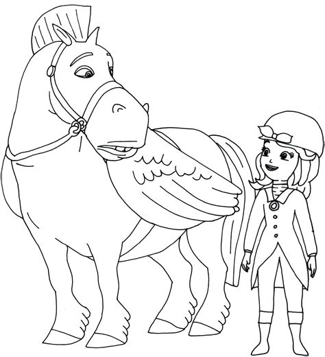 Sofia The First Coloring Pages With Minimus Coloringstar Sofia The Coloring Pages