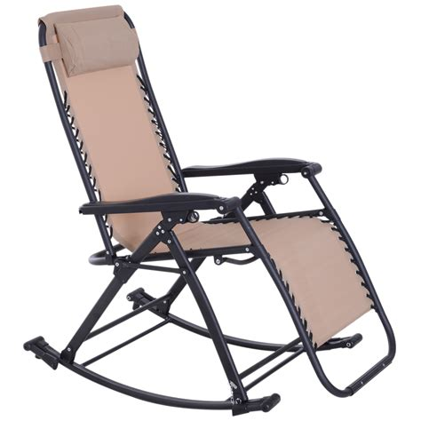 gravity recliner lounge chair patio rocker home outdoor napping cup holder ebay