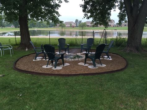 great outdoor pit used galvanized ring concrete