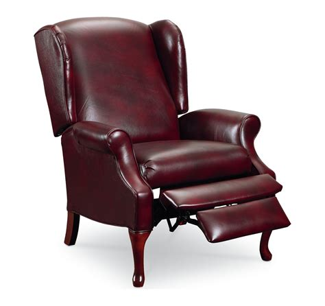 queen anne recliner chair lane hton 2581 traditional high leg recliner chair with