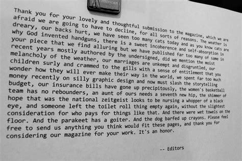 Rejection Letter Joke rejection letter misc