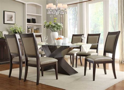 glass dining room table sets 2468 72 bering dining table by homelegance in espresso w