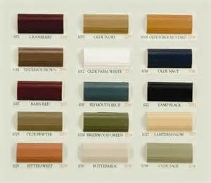 Old century paint color chart