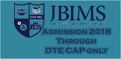 Dte Mba Cap by Jbims Mba Admission 2018 Through Dte Cap Only College