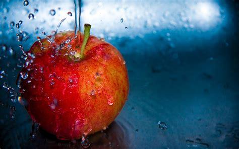 wallpaper apple water wallpaper apple water drop splash red apple desktop