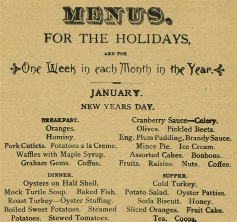 luckee new year menu new year s day menu 1901 liz leines
