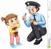 Police Recording Lost Child Stock Vector  Image 68664323