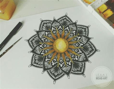 mandala sun tattoo sun mandala tattoos blackwork mandala and