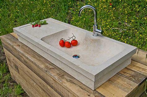 lavelli in pietra usati lavabo da cucina rettangolare in marmo travertino massello