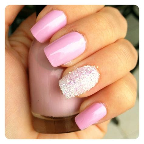 Light Pink Nails by Light Pink Nails With Glitter Light Pink Glitter Nails