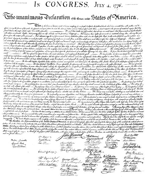 printable version of declaration of independence pinterest the world s catalog of ideas