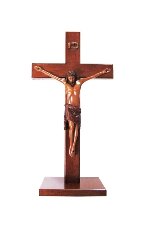 large wooden l base christian large wood wooden corpus standing cross 30cm square base crucifix