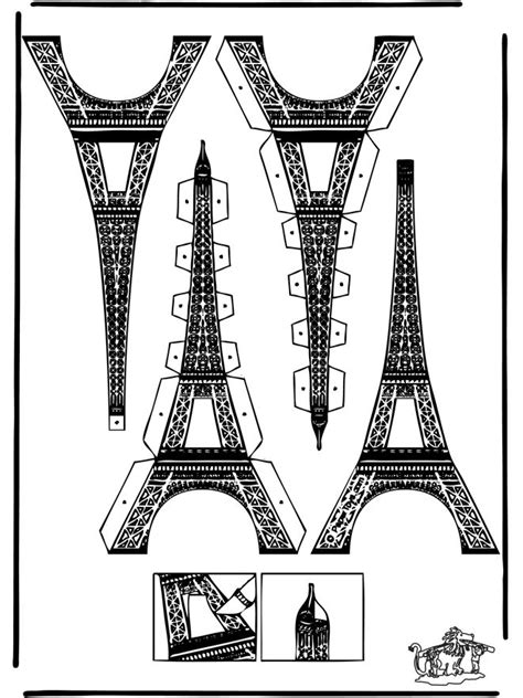 eiffel tower model template papercraft eifel tower cut out cardboard templates and