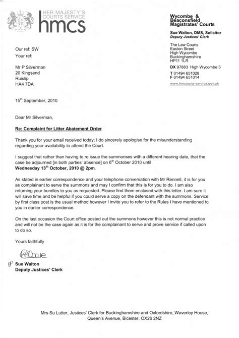 Character Reference Letter For Crown Court Uk From Wycombe Magistrates Court Clean Highways