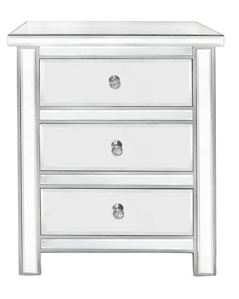 Mirror Drawer Chest by Classic Mirror 3 Drawer Chest With New Handles