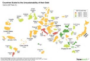 World S Largest Map by Infographic The World Map Of Debt