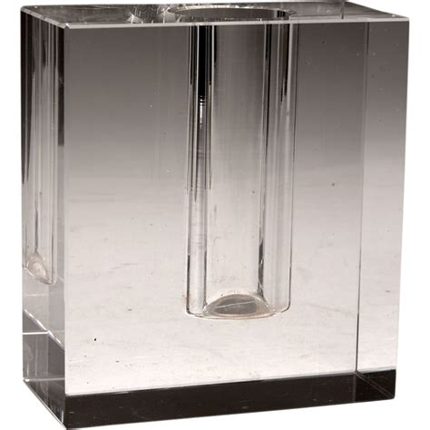 Block Vases by Moderne Glass Block Bud Vase From Cypressstudio On Ruby