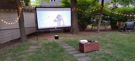 backyard home theater backyard theater screen outdoor goods