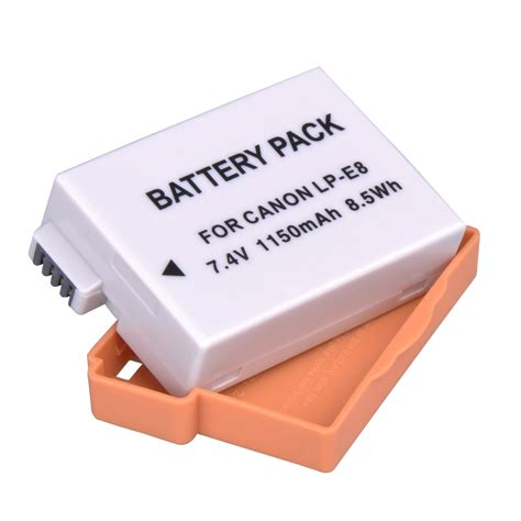 Battery Lpe8 For Canon Eos 550d 600d 650 Kode Vc13537 2xnew lp e8 lpe8 battery for canon eos 550d 600d x5