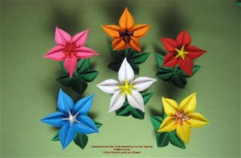 Carambola Origami Flowers - carambola flower www pixshark images galleries