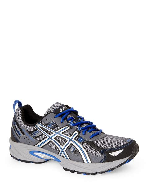 royal blue sneakers lyst asics silver royal blue venture 5 sneakers in