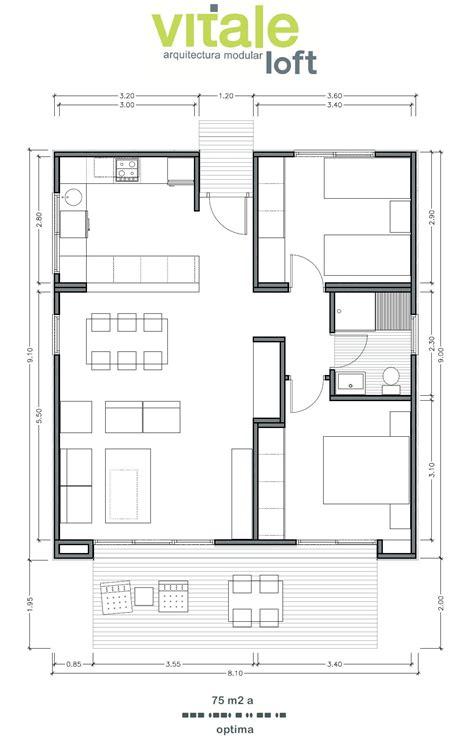 wohnung 75 m2 grundriss casas prefabricadas modulares de hormig 243 n modelo optima