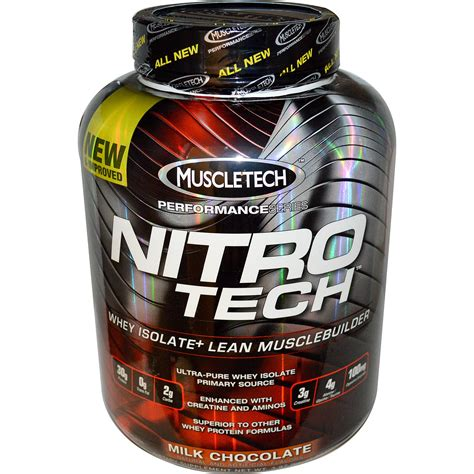Whey Protein Nitro Tech muscletech performance series nitro tech whey isolate lean musclebuilder milk chocolate 3