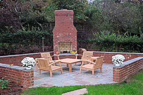 outdoor brick fireplace patio brick fireplace