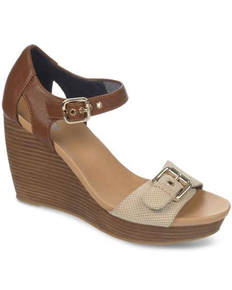 dr scholls wedge sandals dr scholls molton platform wedge sandals in brown taupe