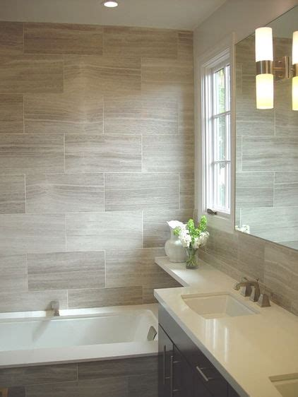 large format tiles small bathroom large format tile in this bathroom the visually striking