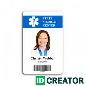 hospital employee card from idcreator
