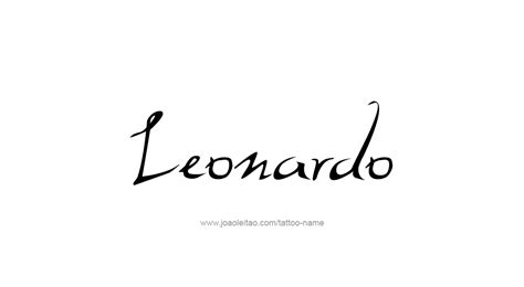 leonardo name tattoo designs