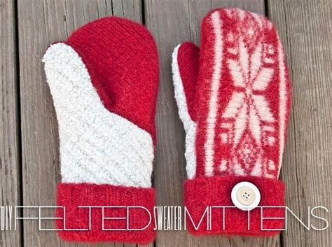 Pattern Felted Wool Mittens From Sweaters | best photos of printable sweater mitten patterns felted