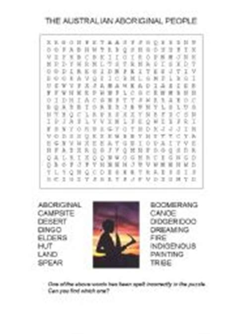 Free Find Search Worksheets Aboriginal Wordsearch