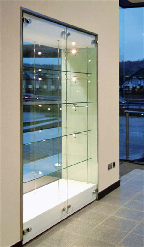 Built In Glass Display Cabinets by Glass Cabinet Display Walls Shopkit Uk